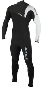 2019 Mystic Mens Majestic Len10 3/2mm Zip Free Wetsuit Black / White 190176