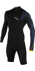 2019 Mystic Mens Majestic 3/2mm Zip Free Long Arm Shorty Wetsuit Black 190082