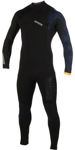 2019 Mystic Mens Majestic 4/3mm Zip Free Wetsuit Black 190080