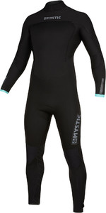 2019 Mystic Mens Marshall 5/3mm Back Zip Wetsuit 200010 - Black / Mint