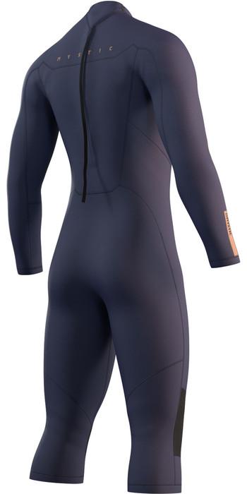 2021 Mystic Mens Marshall 4/3mm Long Arm Short Leg Wetsuit 210114 - Night Blue