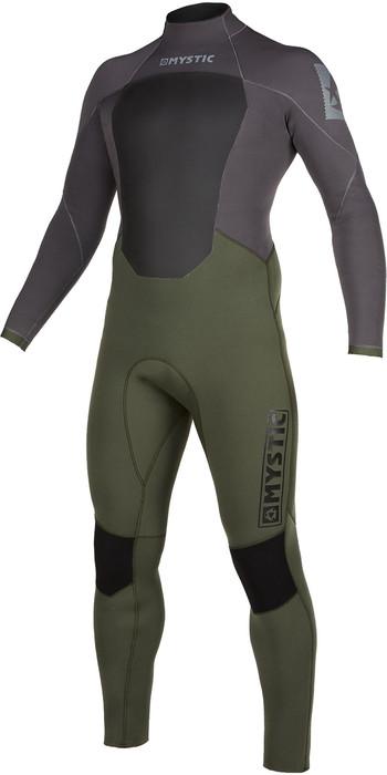 2021 Mystic Mens Star 5/3mm Back Zip Wetsuit 200015 - Grey Green