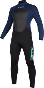 2019 Mystic Mens Star 3/2mm Back Zip Wetsuit 200017 - Navy