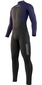 2021 Mystic Mens Star 5/3mm Back Zip Wetsuit 210309 - Night Blue