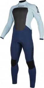 2020 Mystic Mens Star 4/3mm Back Zip Wetsuit 200016 - Navy / Grey