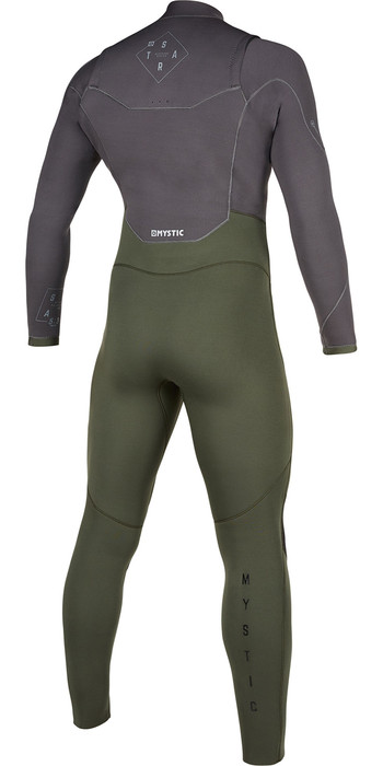 2021 Mystic Mens Star 5/3mm Double Front Zip Wetsuit 200012 - Grey / Green