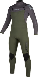 2019 Mystic Mens Star 5/3mm Double Front Zip Wetsuit 200012 - Grey / Green