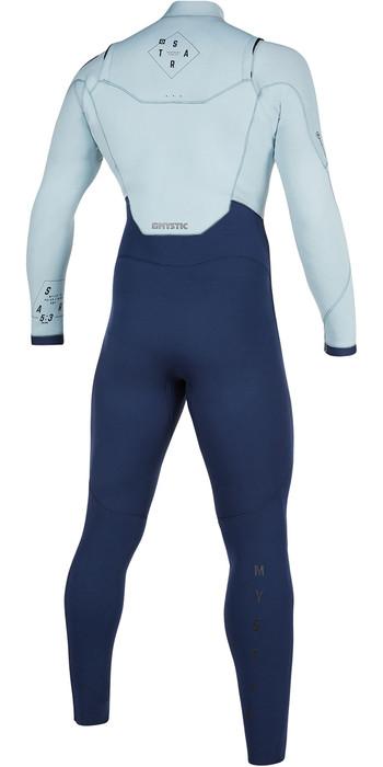 2021 Mystic Mens Star 5/3mm Double Front Zip Wetsuit 200012 - Navy / Grey
