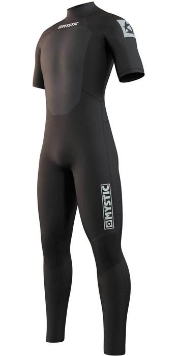 2021 Mystic Mens Star 3/2mm Short Arm Back Zip Wetsuit 21033 - Black