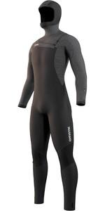 2021 Mystic Mens Voltt 6/4/3mm Hooded Chest Zip Wetsuit 210055 - Black