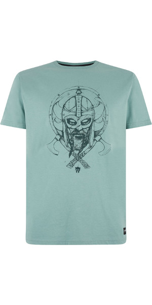 2019 Mystic Mens Warrior Tee Ocean Green 190059