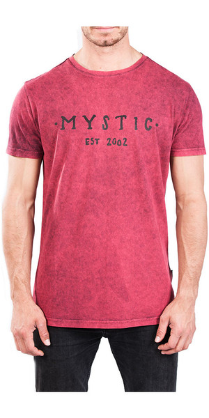 2018 Mystic Scarce Tee Red Dark 180052
