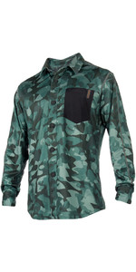 Mystic Shred Quickdry L / S Blouse Green Allover 180141