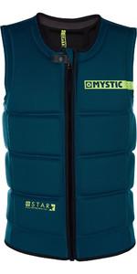 2019 Mystic Star Front Zip Wake Impact Vest Teal 180152