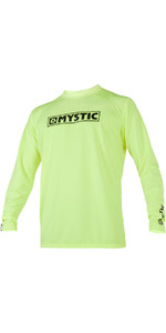 2021 Mystic Star Long Sleeve Loosefit Quick Dry Rash Vest Lime 180106