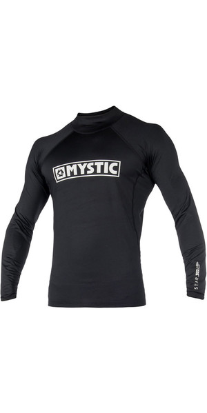2019 Mystic Star L / S Rash Vest Black 180112