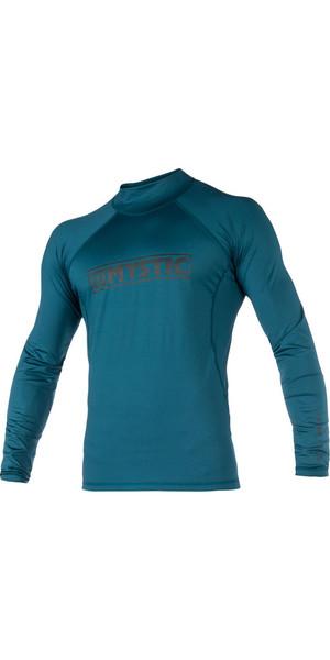 2018 Mystic Star L / S Rash Vest Teal 180112