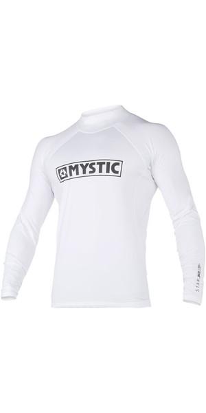 2018 Mystic Star L / S Rash Vest White 180112