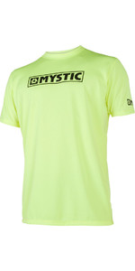 2021 Mystic Star Short Sleeve Loosefit Quick Dry Rash Vest Lime 180107