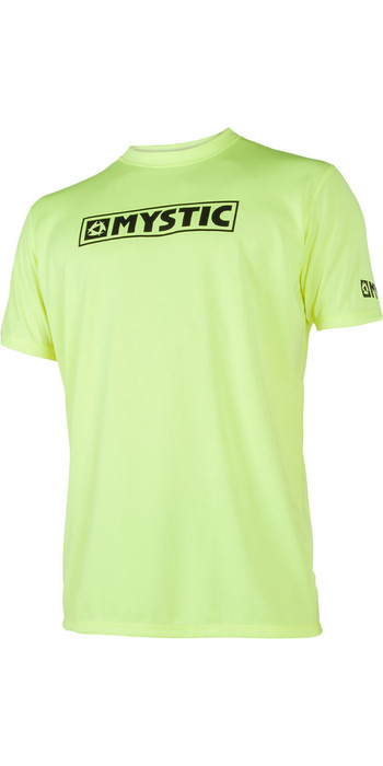 2021 Mystic Star Short Sleeve Loosefit Quick Dry Rash Vest Lime 180107