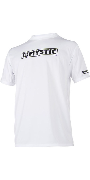 2021 Mystic Star Short Sleeve Loosefit Quick Dry Rash Vest White 180107