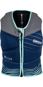 2018 Mystic Star Womens Front Zip Kite Impact Vest Navy 180090