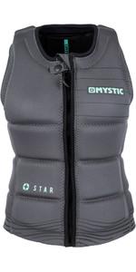 2019 Mystic Star Womens Front Zip Wake Impact Vest Black 180156