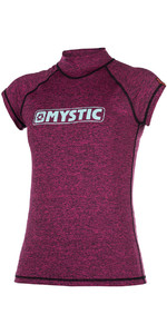 2018 Mystic Womens Star Short Sleeve Rash Vest Pink 170299