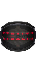 2021 Mystic Stealth Waist Harness NO BAR 20009 - Black / Red