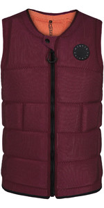 2020 Mystic The Dom Impact Vest Wake Front Zip WDOM - Oxblood Red