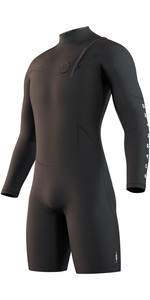 2021 Mystic The One 3/2mm Zip Free Long Arm Shorty Wetsuit 210110 - Black