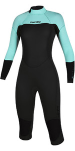 2020 Mystic Womens Brand 3/2mm Long Arm Short Leg Back Zip Wetsuit 200081 - Mint Green