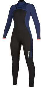 2019 Mystic Womens Dazzled 5/3 Double Chest Zip Wetsuit 200022 - Navy
