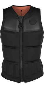 2020 Mystic Womens Dazzled Front Zip Wake Impact Vest 200187 - Black Allover