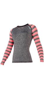 Mystic Womens Dazzled L / S Rash Vest Coral 170296