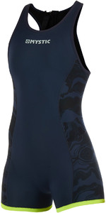 2019 Mystic Womens Diva 2mm Back Zip Short John Wetsuit Navy 190086