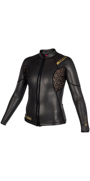 2018 Mystic Womens Diva Black Series 2mm Neoprene Jacket Black 180097