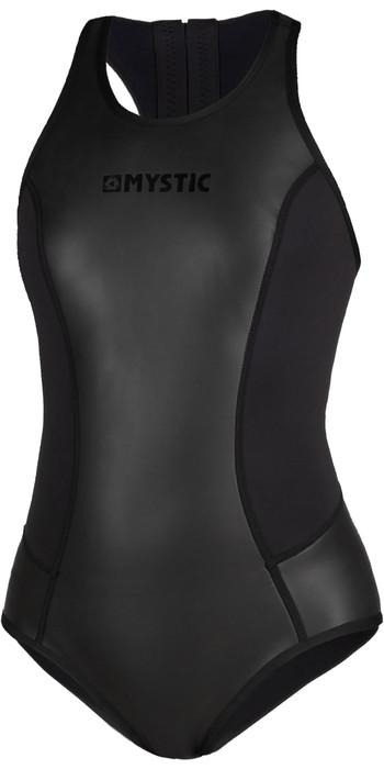 2020 Mystic Womens Diva Black Series 2mm Sleeveless Back Zip Shorty Wetsuit 200079 - Black