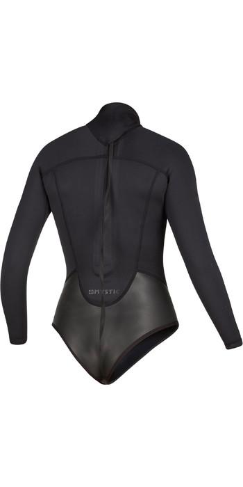 2021 Mystic Womens Diva Black Series Long Sleeve 2mm Back Zip Super Shorty Wetsuit 200078 - Black