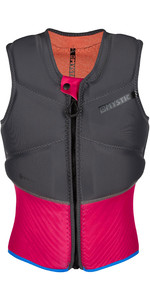 2021 Mystic Womens Diva Front Zip Kite Impact Vest 200111 - Phantom Grey