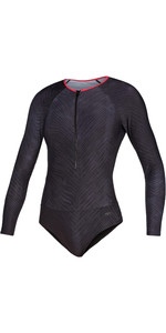 2020 Mystic Womens Diva Long Sleeve Swimsuit 200152 - Phantom Grey