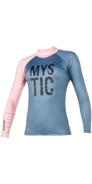 2018 Mystic Womens Dutchess L / S Rash Vest Pewter 170294