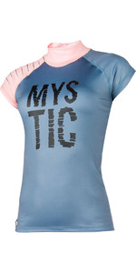 Mystic Womens Dutchess S /  S Rash Vest Pewter 170295