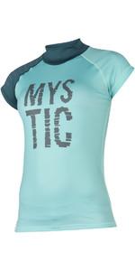 Mystic Womens Dutchess S /  S Rash Vest Teal 170295