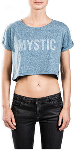 2018 Mystic Womens Flutter Tee Powder Blue 180530