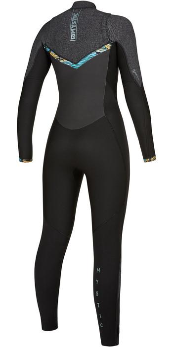 2019 Mystic Womens Gem 6/4/3 Double Chest Zip Wetsuit 200018 - Black
