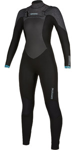 2019 Mystic Womens Gem 6/4/3 Double Chest Zip Wetsuit 200018 - Black