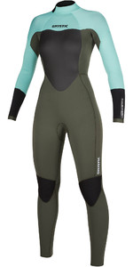 2021 Mystic Womens Star 5/3mm Back Zip Wetsuit 200027 - Mint Green
