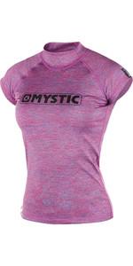 Mystic Womens Star Short Sleeve Rash Vest Pink Marle 170299