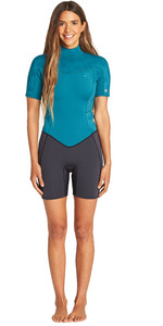 2019 Billabong Womens Synergy 2mm Shorty Wetsuit Pacific N42G04